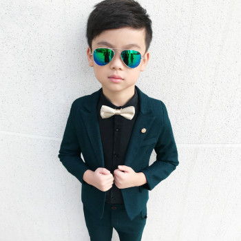 2019 Kids boys suits set formal kid boys wedding suit tuxedo for boys suits for weddings suit for kids boy birthday(Blazer+Pant) boys black blazer wedding suits for boy formal dress suit boys kids page outfits 5 pcs set gh461