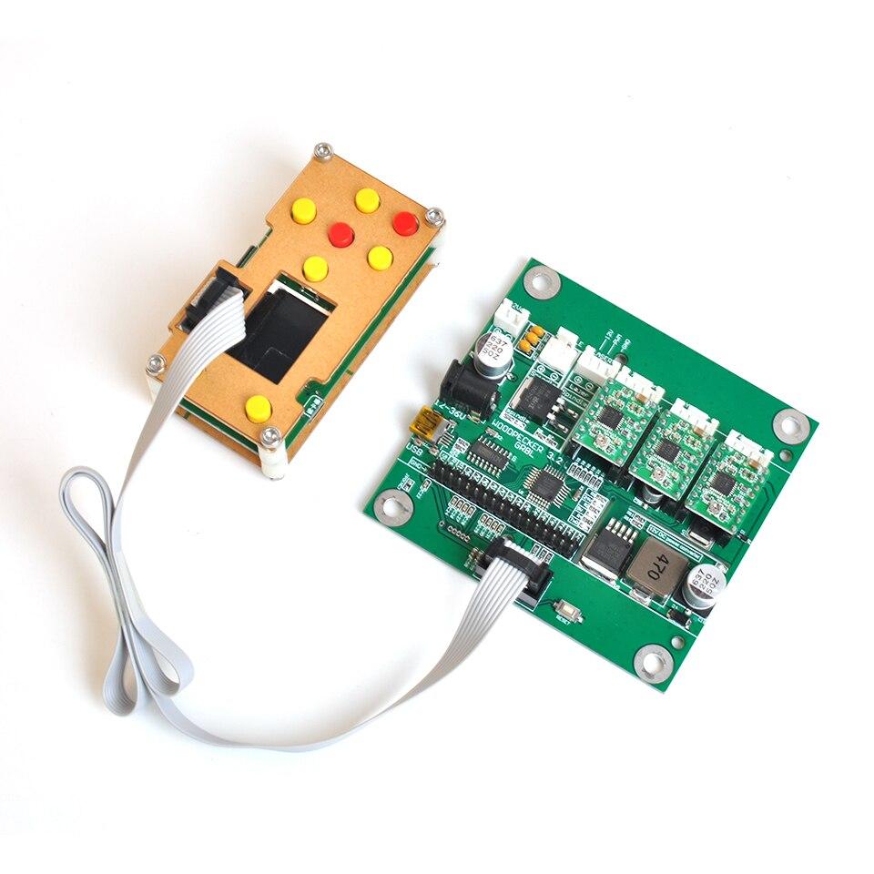 3 axes GRBL carte de contrôleur hors ligne USB CNC carte de contrôleur d'écran pour Mini bricolage 1610/3018 CNC Machine de gravure Laser