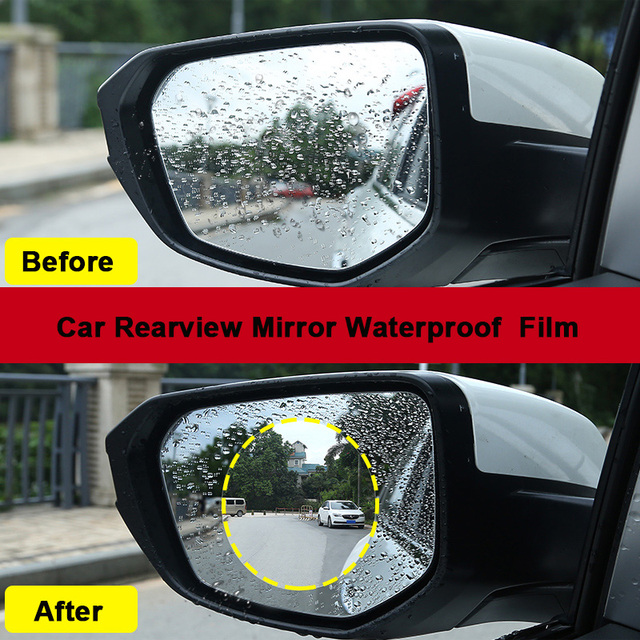 Chuanguo 2018 New Car Rearview Mirror Waterproof Membrane Anti Fog