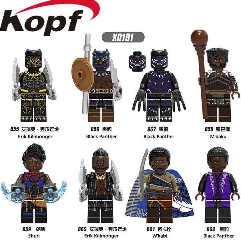 Single Sale Super Heroes Black Panther Shuri Erik Killmonger M'baku W'kabi Bricks Model Building Blocks Children Gift Toys X0191 цена