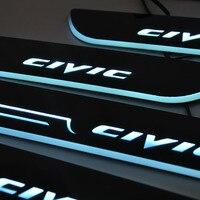 سيارة التصميم لهوندا سيفيك led عتبة الباب جرجر بلايت ترحيب دواسة دواسة عتبة مشرقة رائعة ل 2006-2017 هوندا سيفيك