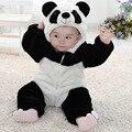 Recién nacido Del Resorte Del Bebé Del Mameluco Del Traje Animal Bebé Mono lindo Franela Mameluco Baby Girl Boy Ropa Panda Oso Pato mameluco