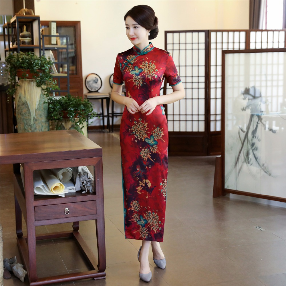 Shanghai Story Long Qipao Chinese Dress Flower Cheongsam Chinese Traditional dress Oriental dress Chinese Woman s