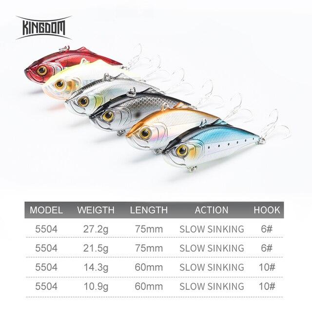 Royaume hochet naufrage Vibration pêche leurres 75mm 60mm appâts durs artificiel VIB été ou hiver pêche sur glace leurre achigan brochet