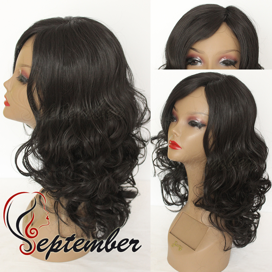 Cheap Synthetic Lace Front Wig Glueless Body Wave Natural
