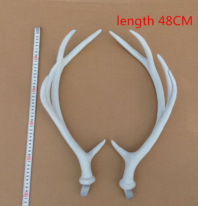 Custom simulation deer antlers with Christmas goods angle animal models show decorative props photography