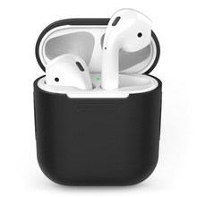 for AirPods Case Silicone Protective Cover and Skin Shock Proof Apple Airpods Charging (Black)