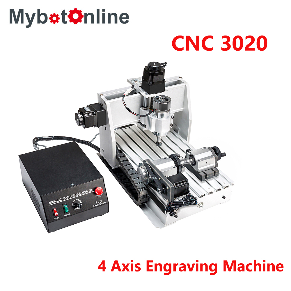 4 Axis CNC Engraving Machine 300W/800W/1.5KW 3020 DC Power Spindle Motor MACH3 CNC Router Machine Drilling Router4 Axis CNC Engraving Machine 300W/800W/1.5KW 3020 DC Power Spindle Motor MACH3 CNC Router Machine Drilling Router