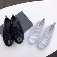 2019 New Women Melissa Shoes Summer Sandals Shoes Non Slip Rainbow Casual Shoes Comfortable Waterproof Lace Shoes Melissa Women