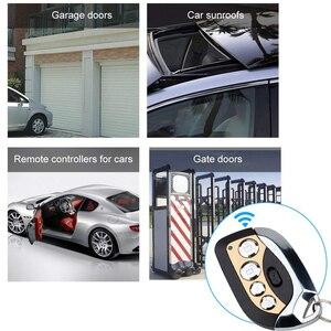 Image 5 - Kebidu Drahtlose Fernbedienung Fernbedienung Auto Duplikator 433MHz Einstellbare Tor Garage Tür Keychain für Auto