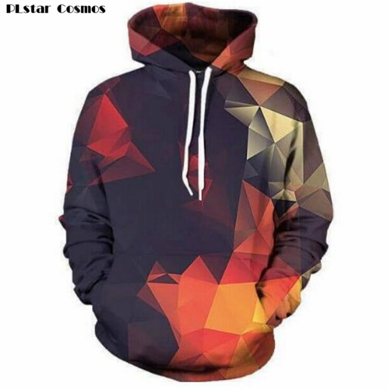 PLstar Cosmos Abstract Glow Hoodie Casual Pullover Women/men Free Shipping Crewneck Long Sleeve Outfits Tops Plus Size S-5XL