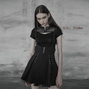 Retro-Gothic Short Tight Knit T-shirt