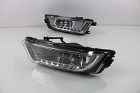 eOsuns LED daytime running light DRL fog lamp for skoda octavia 2014 15, with yellow turn signals, wireless switch, dim control