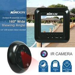 Kkmoon 2.4 lcd digital doorphone hd ir câmera visão noturna foto tomada/vídeo porteiro para a segurança em casa vídeo-olho porta