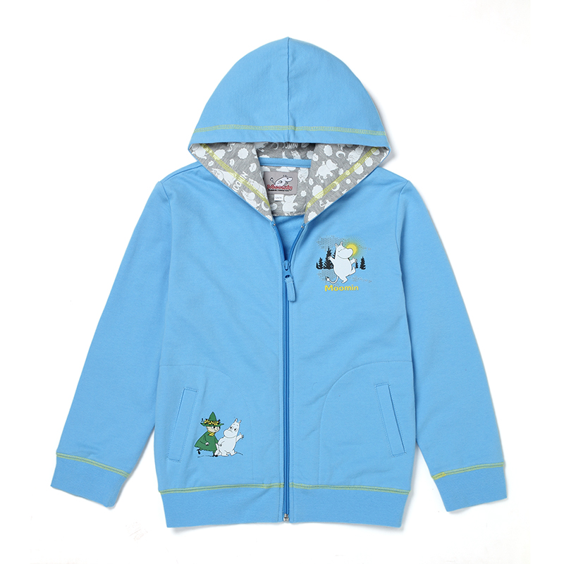 2015 new moomin cotton boys sweatshirts Regular length children long sleeve hoodies Character Blue active boys  kids hoodie
