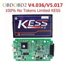 Mejor V5.017 V2.23 KESS V2 OBD2 Gerente Sintonía Kit Maestro versión ECU Chip Tuning KESS V2 5.017 No Tokens Limited herramienta