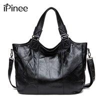 European Style Casual Handbags 2016 Large Capacity Tote Bag Travel Womens Messenger Bags Genuine Leather