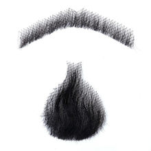 Allaosify 5 Style Weave Fake Beard Man Mustache Makeup for Film Television Makeup Real Fancy Facial Hair Cospaly Party(China)