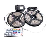 IP65 Wasserdichte 5050 RGB 10 M LED Streifen Set Flexible Band Home Dekoration Beleuchtung 44 Keys IR-Controller 12 V DC Power Adapter