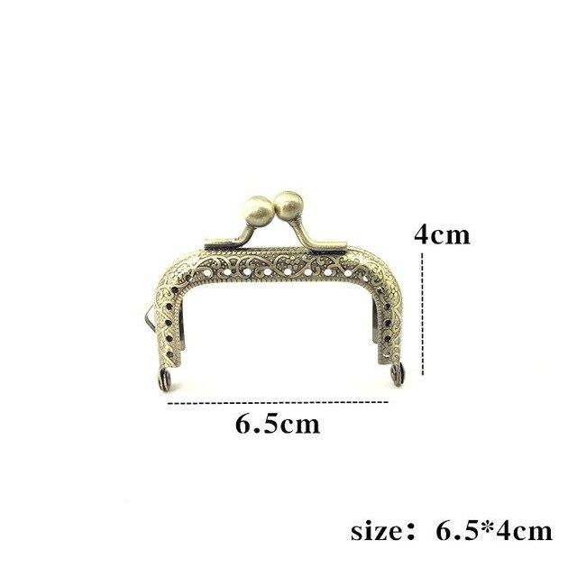 LIONSEN 6.5/7.5/8.5/10.5/12.5/15/18/20cm DIY Metal square Frame Purse Handle Coin Bags Metal Kiss Clasp Lock Frame Accessories 5