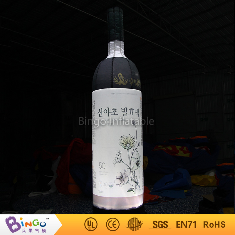inflatable model toy inflatable beverage water cups 3m inflatable red wine bottle beer barrel tin can with full print for party