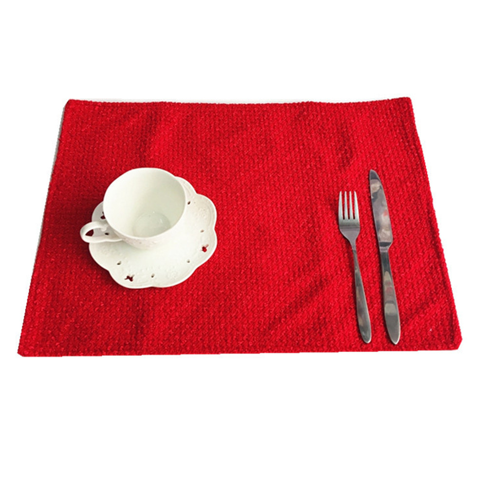 Dining table mats designs - Simple Design Christmas Dining Table Mats Christmas Placemats Table Mat Set Kitchen Cooking Pads Red Green