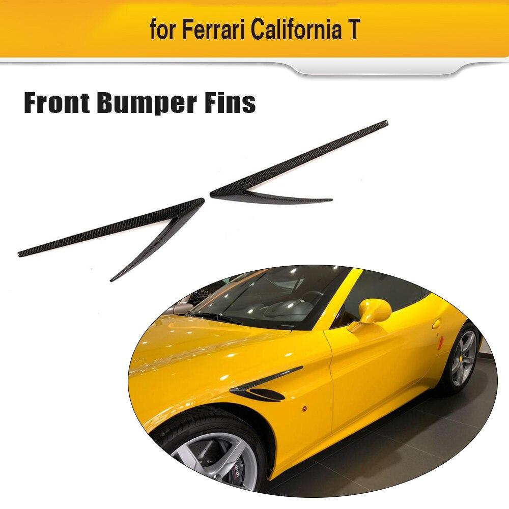 Pour Ferrari California T Base Convertible 2 portes Coupe 2015-2018 en Fiber de carbone ailerons de pare-chocs garde-boue évent garnitures 2 pièces