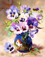5D DIY Diamond Painting Cross Stitch Blue Flowers Full Square Drill Rhinestone 3D Dimensional Embroidery Series
