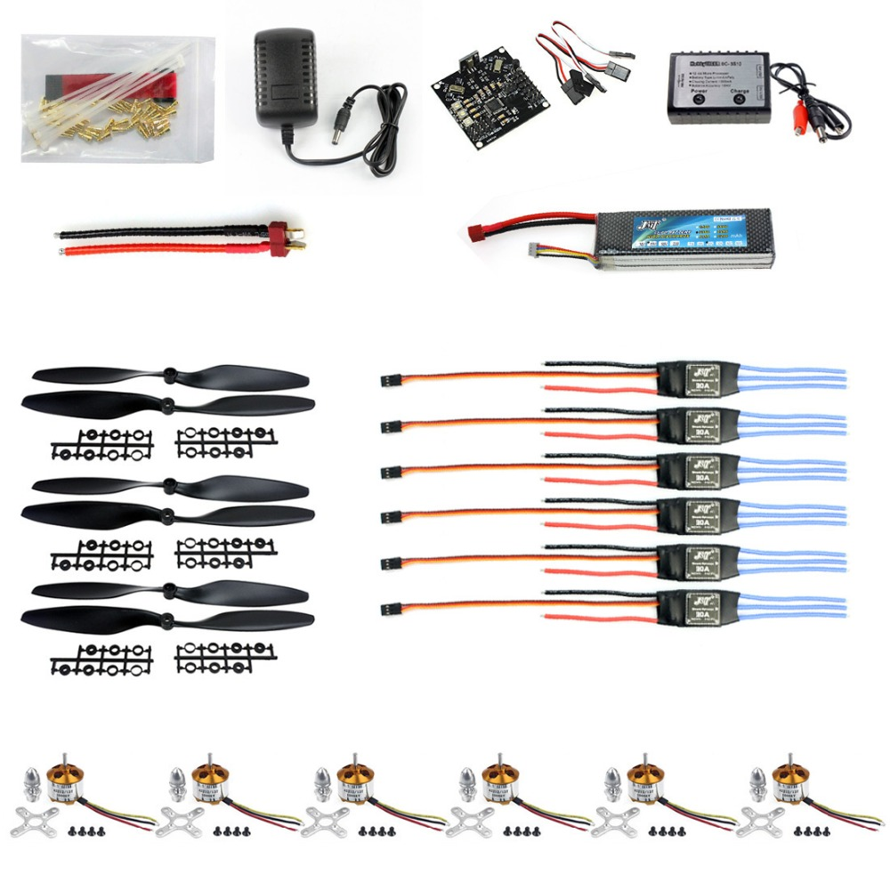 F05114-E RC HexaCopter Parts: KK Multicopter V2.3 Hex-Rotor Flight Controller 30A ESC A2212 Motor Battery PropellersF05114-E RC HexaCopter Parts: KK Multicopter V2.3 Hex-Rotor Flight Controller 30A ESC A2212 Motor Battery Propellers