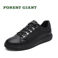 FOREST GIANT Fashion Genuine Leather Lace Up Men Shoes Men Winter Sping Autumn Business Flats Shoes Plus Big Size 46 47 48 1897