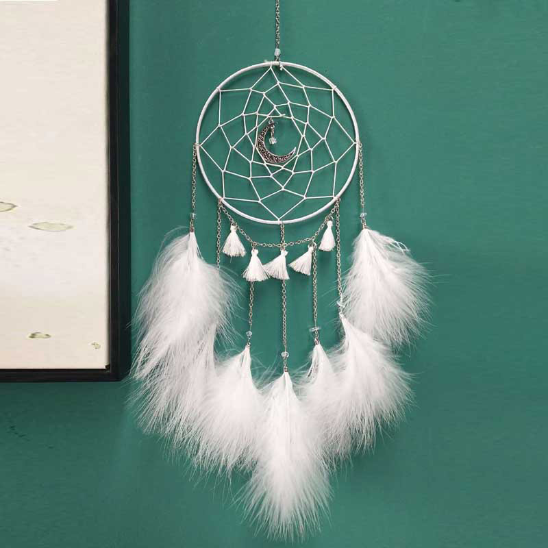 New creative white moonlight dream catcher pendant fashion simple network wind chime