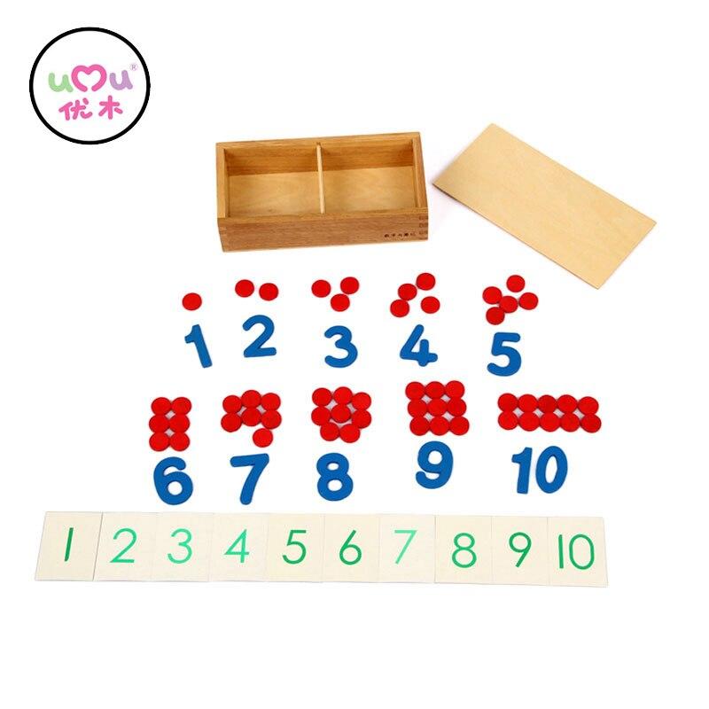 Early Educational Montessori Math Toy Wooden Montessori Sensorial Materials Montessori Toys Educational Games UA2764H montessori materials paper for geometric inlay steel boards beech wood math toys early education toy can smarter freee shipping