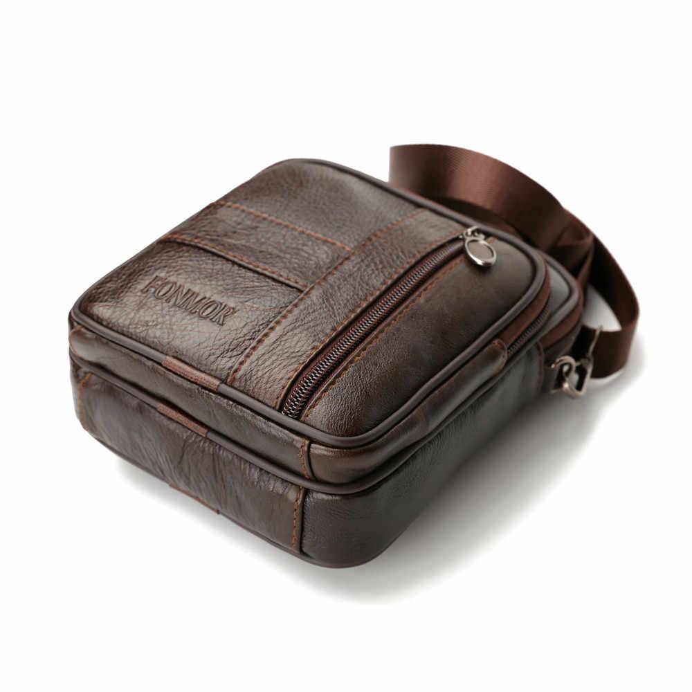 Sacos do vintage para Homens Puro Comércio de Couro Crossbody Bolsa de Ombro Bolsa Masculina de super qualidade