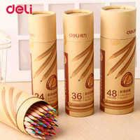 Deli 2017 Colored Pencil set Stationery for school supplies 12/18/24/36/48 Colors pencil artist Painting Drawing apices colores
