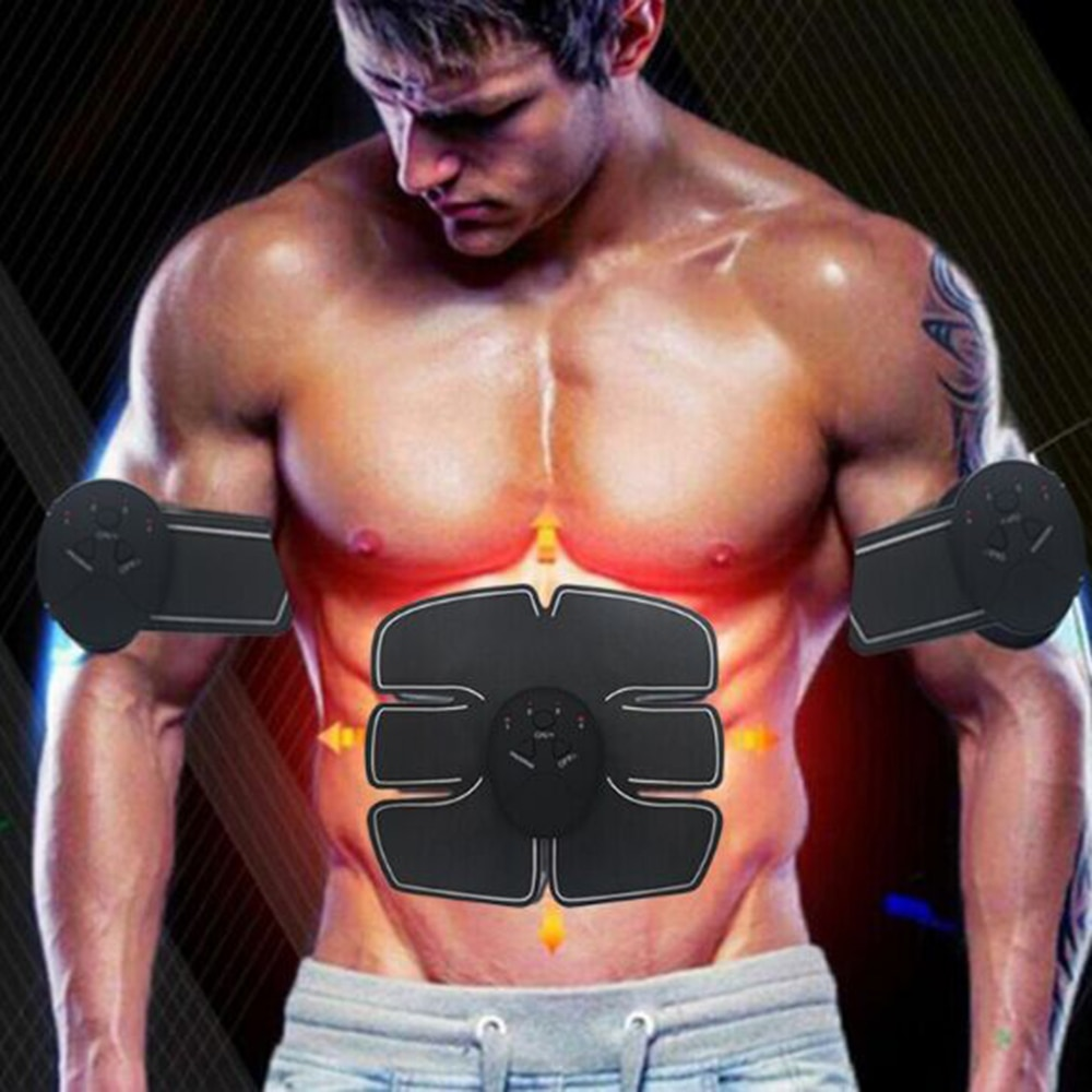Electric Muscle Stimulator Abdominal Exerciser Training Weight Loss Fat Body Slimming Machine Fitness Smart Massage Belt Unisex