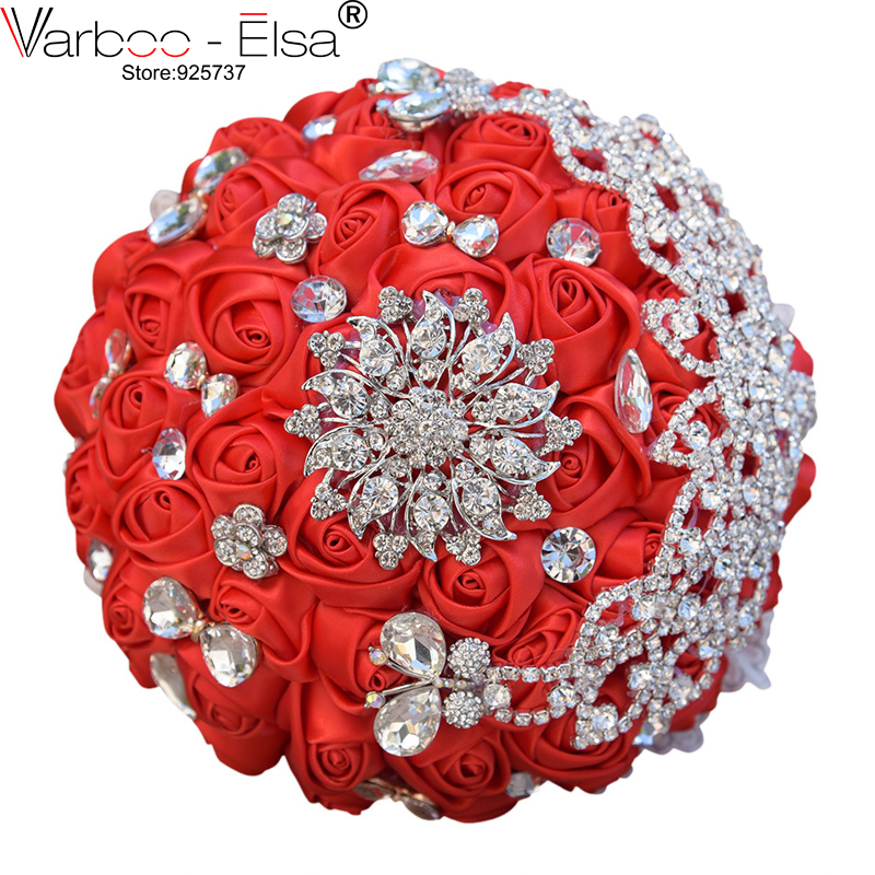 Bridal Bunga Berat Berlian Mutiara Manik Sutra Bunga Pernikahan