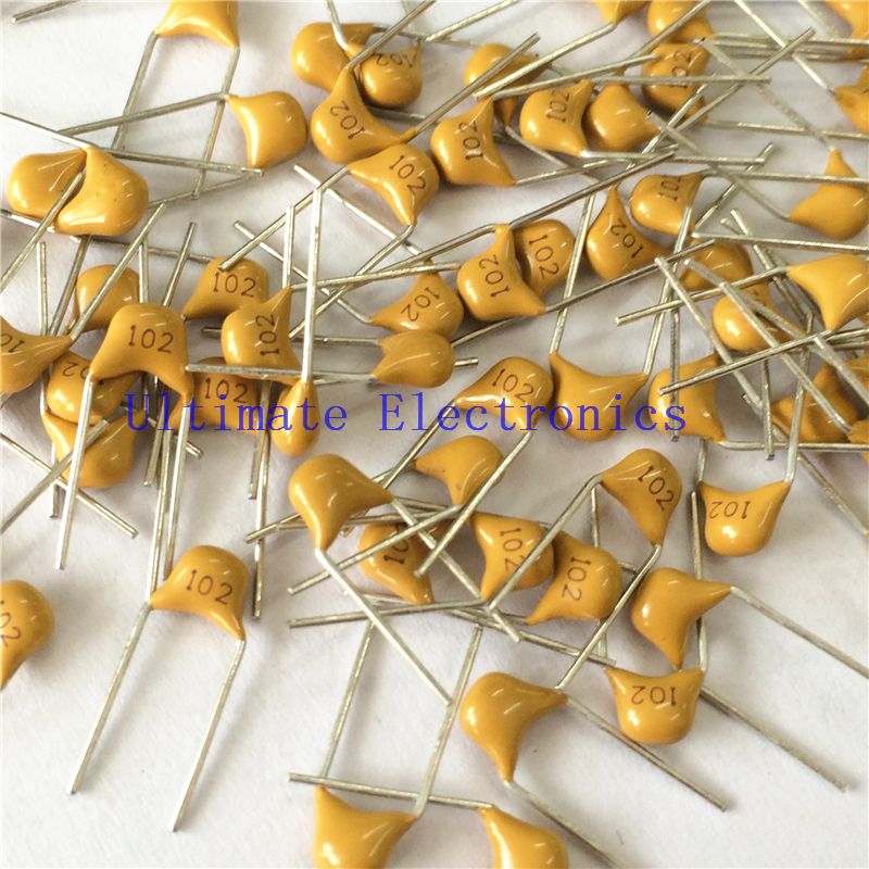 100pcs/lot  Multilayer Ceramic Capacitor 102 50V 1nF 102M P=5.08mm
