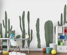Surpaku Plants Cactus Wall Stickers Hanging Geometric Flowers Pots Wall Stickers Wall Decal Wall Art Mural Sticker for Kids Room Bedroom Living Room Decoration