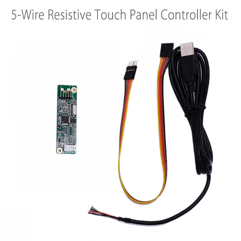 5 Wire 5-Wire Resistive Touch Screen Panel USB Port Driver Controller Board  DIY LCD Display Panel 232COM