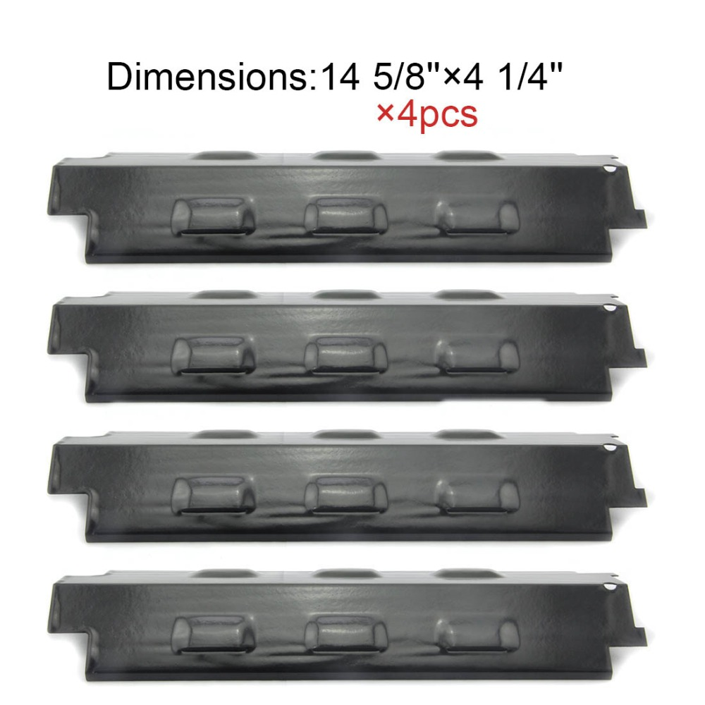 BBQ Parts 98531(4-pack) Porcelain Steel Heat Shield Replacement Heat Plate for Charbroil and Kenmore Gas Grill Models