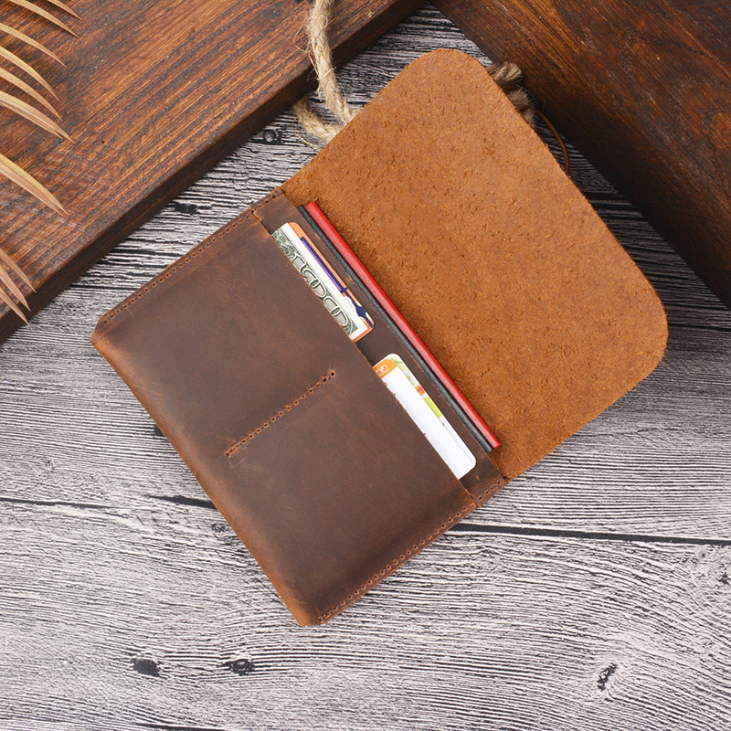 Top Cow Leather Men Passport Holder Trave Wallet Vintage Handmade Covers On Passport Business Card Holder Card Organizer