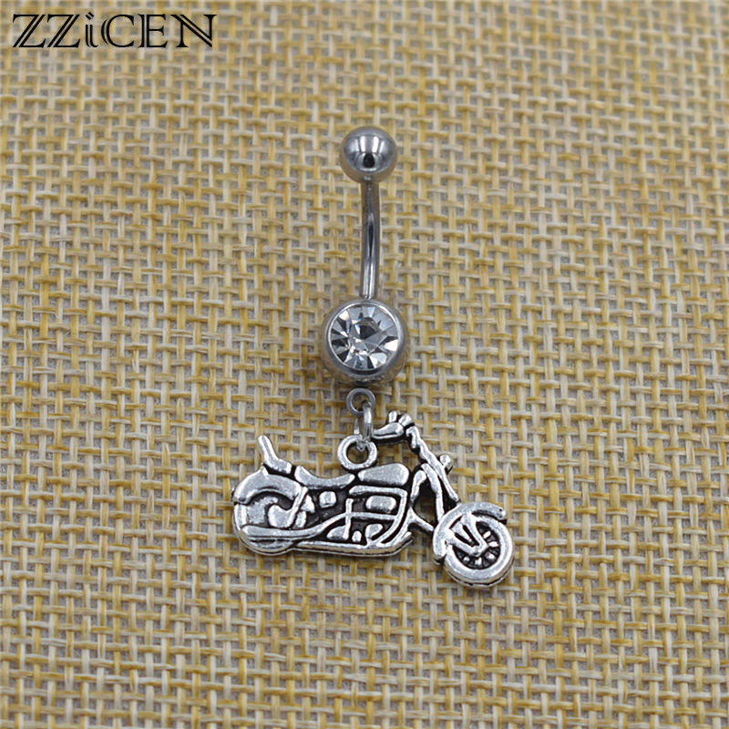 Punk Style Sports Bicycle Charms Motocross  Dirt Bike Pendant Cool Motorbike Motorcycle Bar Piercing Dangle Belly Button Rings|Body Jewelry|   - AliExpress
