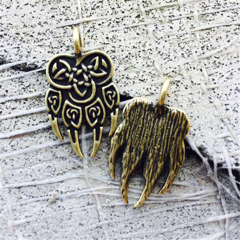 1 قطعة العتيقة السلافية تعويذة Veles سحر الله تسجيل العرقية مجوهرات رجل شجاع قلادة