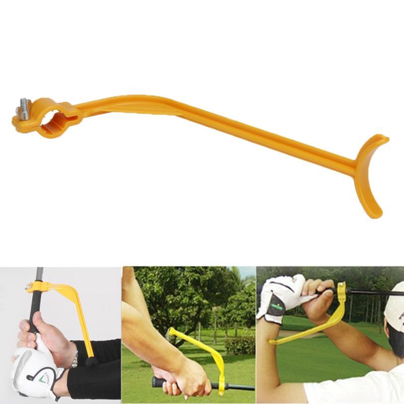 Super kvalitet Golf Swing Practice Uddannelseslærer Guide Gesture Leveling Training Wrist Proper Aid Plan Tool Club Jan16