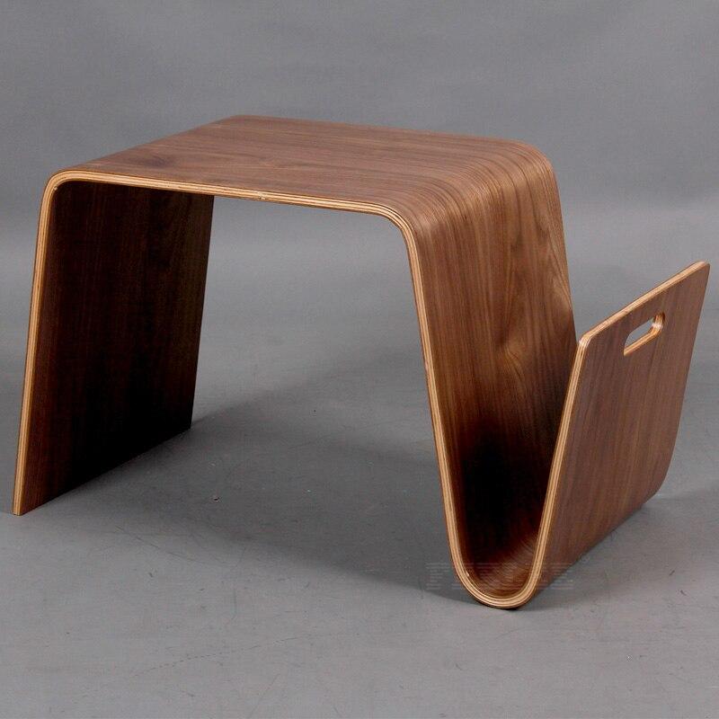 Table basse en bois pour salon W36 * D66 * H40 CM - 4