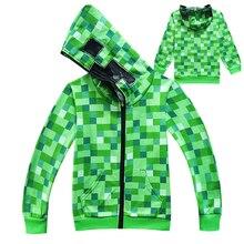 0538035de Halloween Dzieciak Chłopców Minecraft Cosplay Costume Dzieci Nastolatek  Creeper Kostiumy Wiosna Jesień Zielony Zip-Up