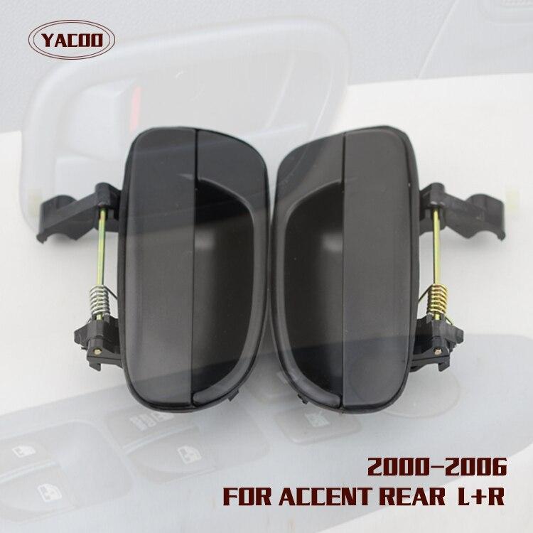 2000 Hyundai Accent Exterior: 1PAIR REAR EXTERIOR DOOR HANDLE FOR HYUNDAI ACCENT 2000
