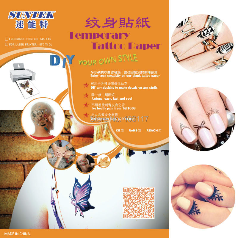 photograph relating to Printable Temporary Tattoo Paper called US $866.45 A4 Carbon Printable Momentary Tattoo Move Stencil Paper With Laser Printer For Printing Decal Paper-in just Portray Paper against Office environment
