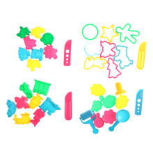 36pcs Baby Ability Playdough Polymer Clay Beach Toy Traning Toy Play Dough Plasticine Mold Tools Set Kit Sand Begin Kids(China)