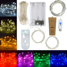 Flash LED String lights Home Bedroom Holiday Fairy Garlands For Christmas Tree Wedding Party Decorations Outdoor Battery Bulbs(China)
